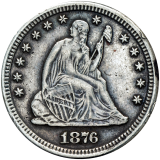 Seated Liberty - Quarter Dollar 1876 CC