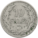 10 Fillér 1892 KB
